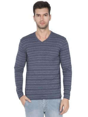 Navy V-Neck Long Sleeve T-Shirt