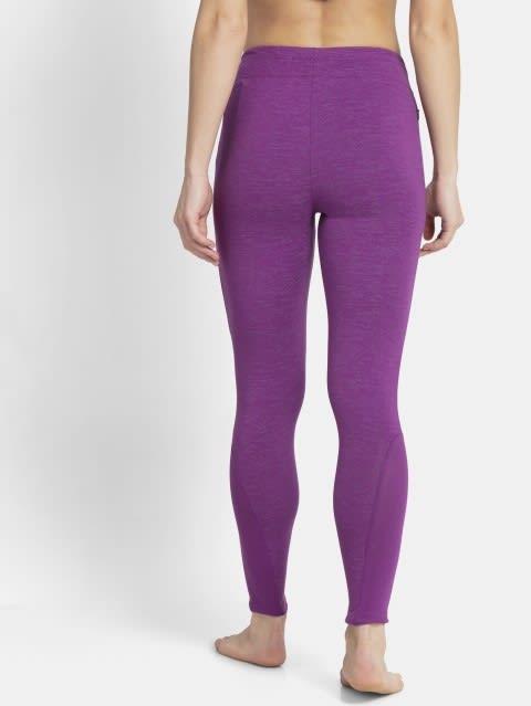 Purple Glory Marl Yoga Pant
