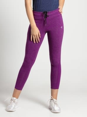 Purple Glory Marl Yoga Pant