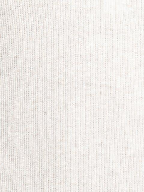 Cream Melange Full Sleeve T-Shirt