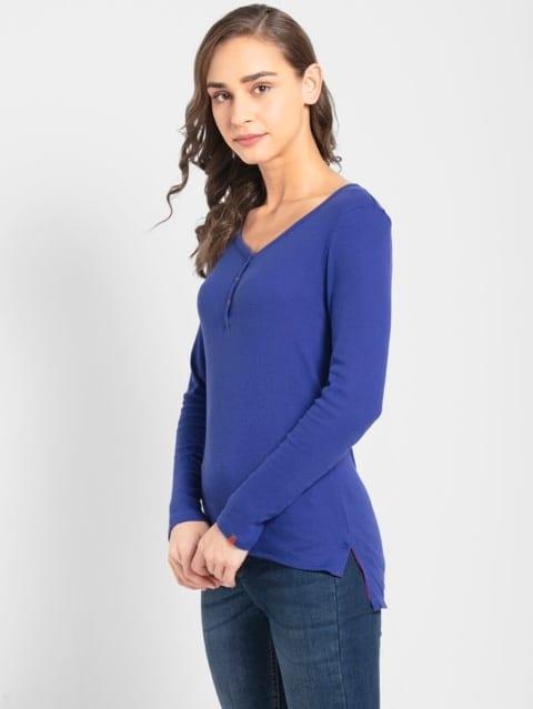 Indigo Crush Full Sleeve T-Shirt