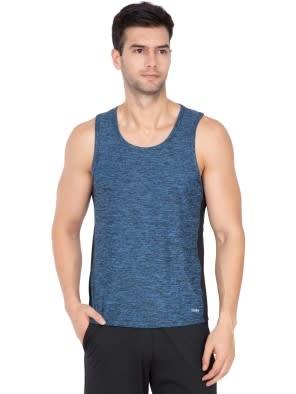Blue Marl Loose Fit Tank Top