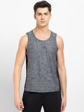 Grey Marl Loose Fit Tank Top