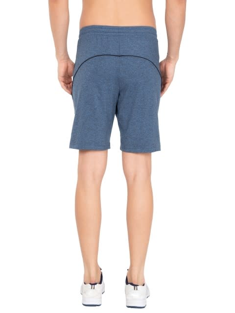 Blue Marl Short with continuous back yoke