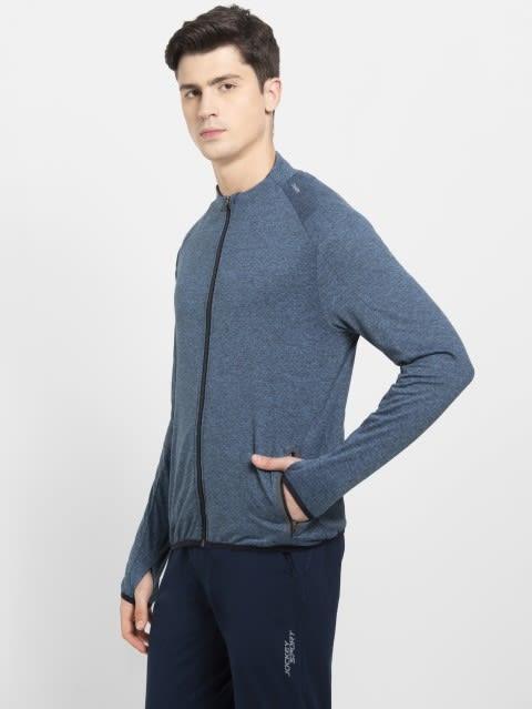 Blue Marl Highneck Jacket