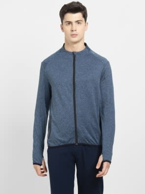 Blue Marl Highneck Jacket