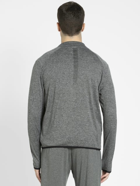 Grey Marl Highneck Jacket
