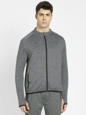 Grey Marl Highneck Jacket