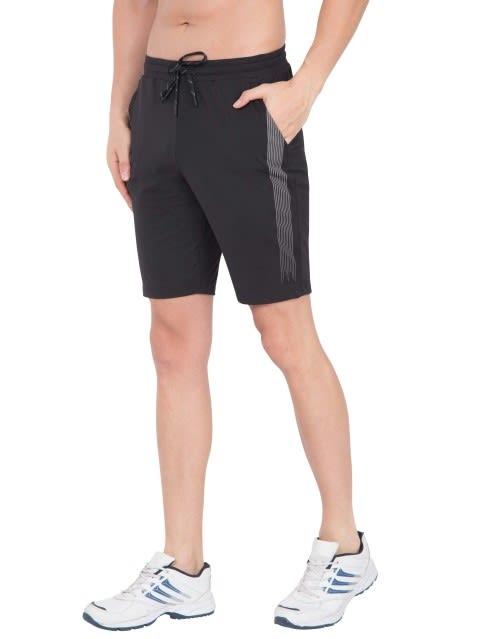 Black Tapered Leg Short