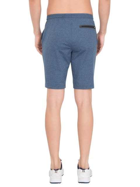 Blue Marl Tapered Leg Short