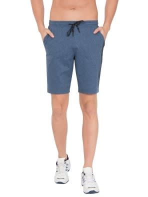 Blue Marl Tapered Leg Short