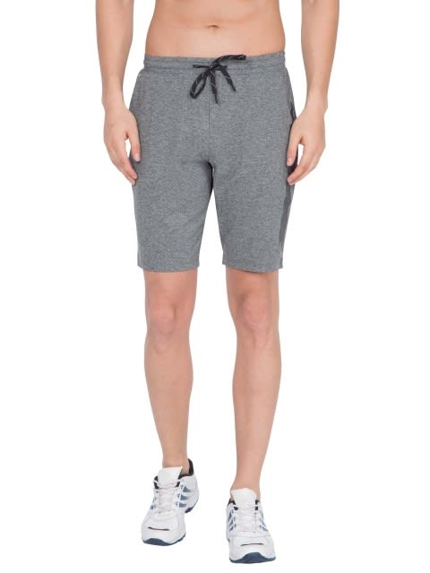 Grey Marl Tapered Leg Short