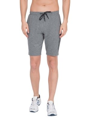 Grey Marl Tapered Leg Short