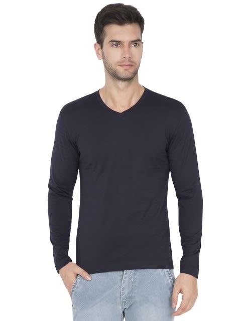 True Navy V-Neck Long Sleeve T-Shirt