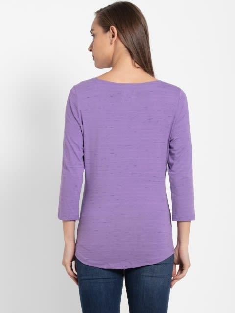 Paisley Purple Three Quarter Sleeve T-Shirt