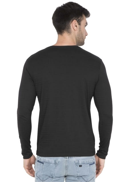 Black V-Neck Long Sleeve T-Shirt