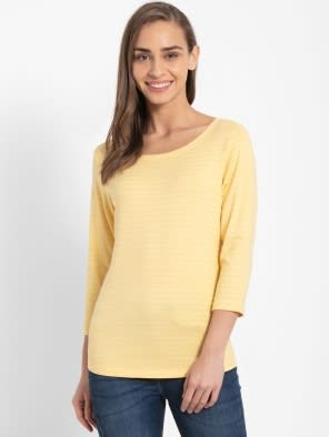 Banana Cream Three Quarter Sleeve T-Shirt
