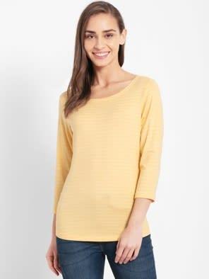 Banana Cream Three Quarter Sleeve T-Shirt