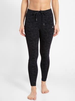 Black Marl Yoga Pant