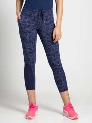 Imperial Blue Marl Yoga Pant