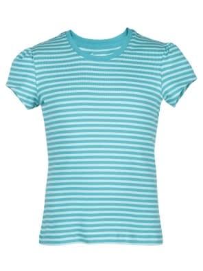 Paradise Teal & Aqua Splash Girls T-Shirt