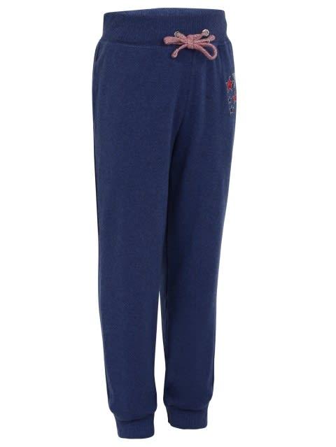 Blue Melange Girls Track Pant