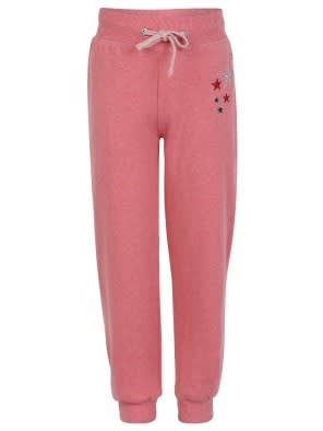 Passion Red Melange Girls Track Pant
