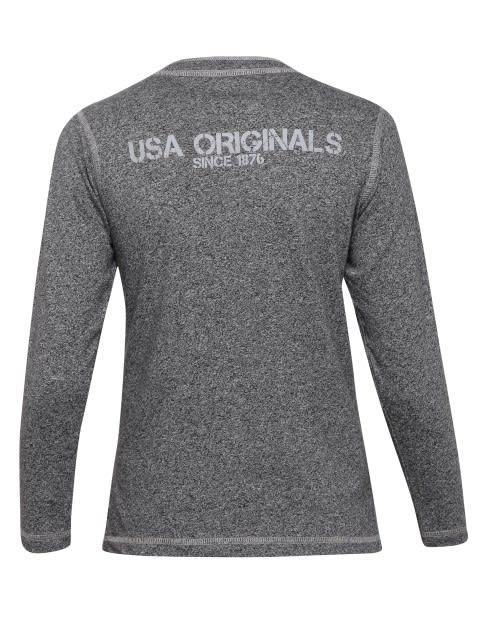 Black Grindle Boys Henley T-Shirt Long Sleeve