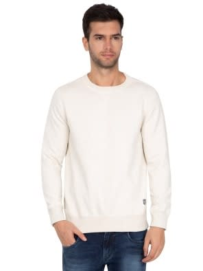 Cream Melange Sweatshirt