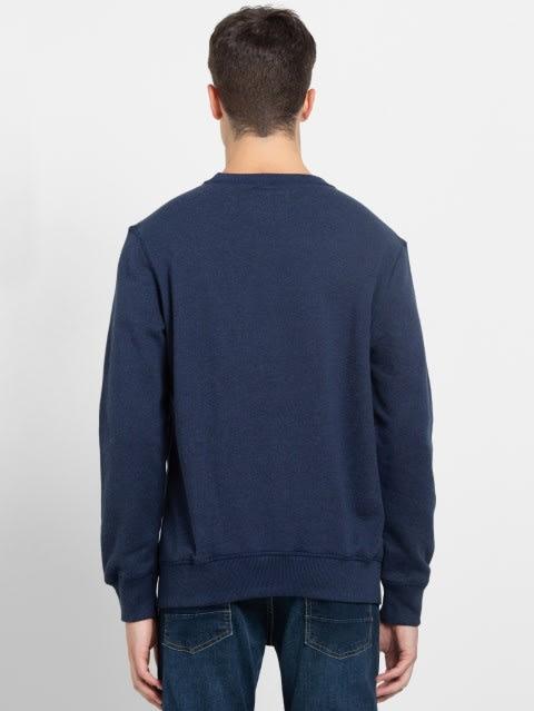 Ink Blue Melange Sweatshirt