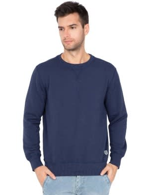 Ink Blue Melange Sweatshirt