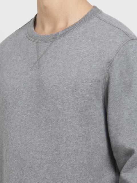 Grey Melange Sweatshirt