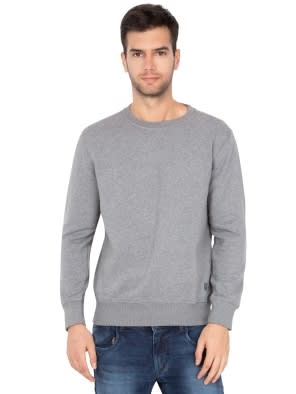 Grey Melange Sweatshirt