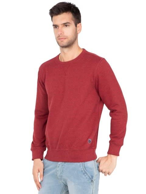 Red Melange Sweatshirt