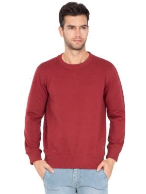 Red Melange Sweatshirt