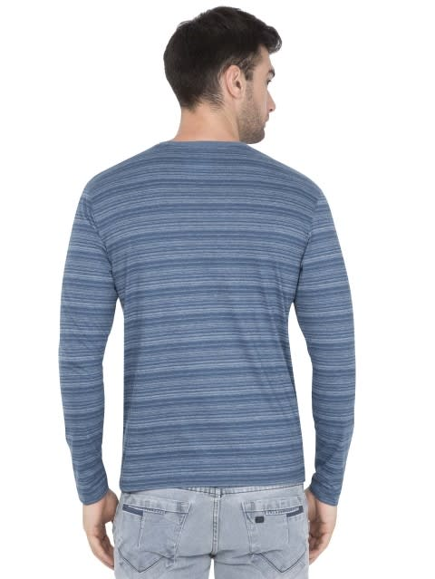 Seaport Teal V-Neck Long Sleeve T-Shirt