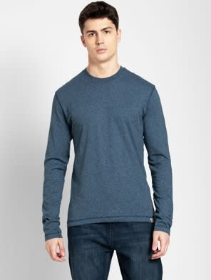 Navy Grindle Long Sleeved T-Shirt