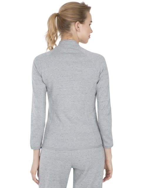 Grey Snow Melange Jacket