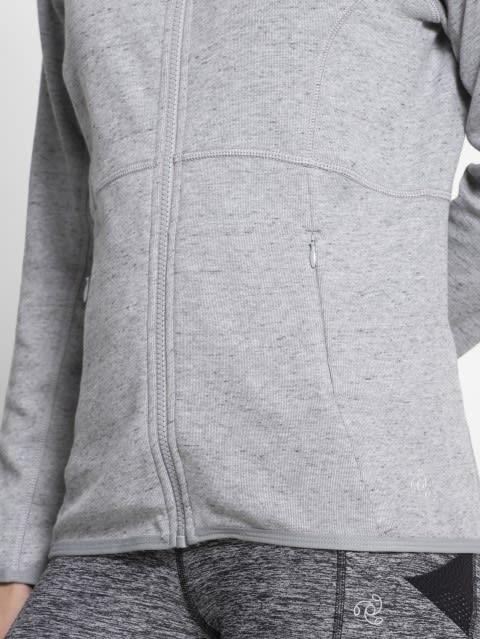 Grey Snow Melange Jacket