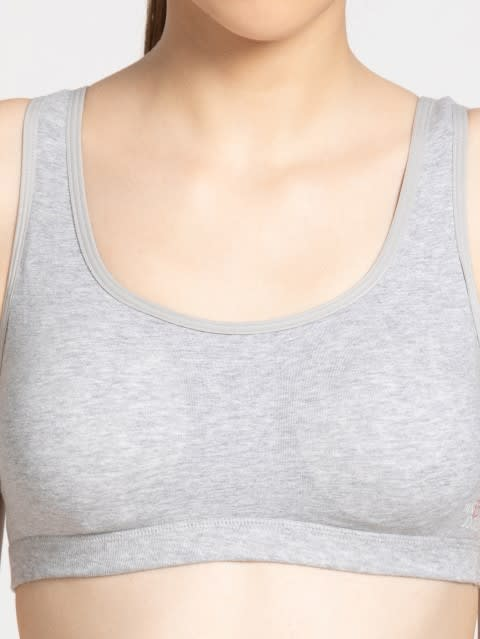 Light Grey Melange Uniform Bra