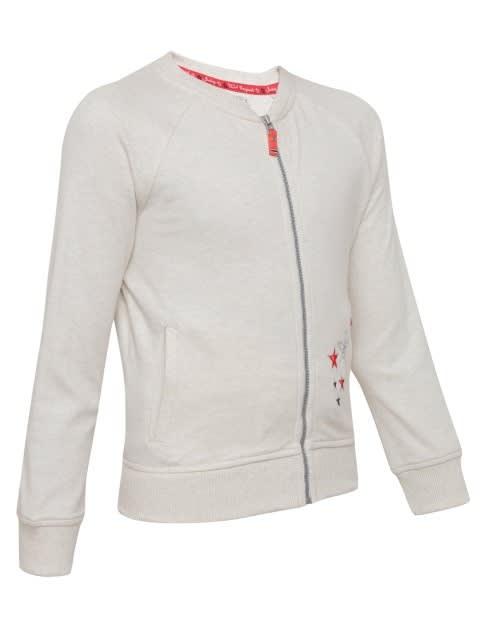 Cream Melange Girls Jacket