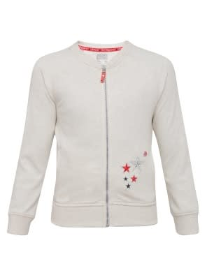 Cream Melange Girls Jacket