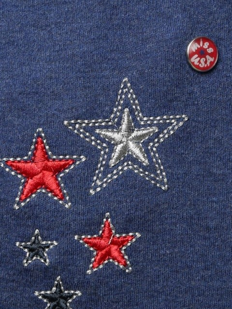 Girls Blue Melange Girls Jacket