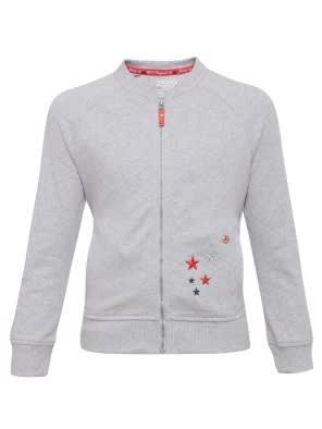 Light Grey Melange Girls Jacket