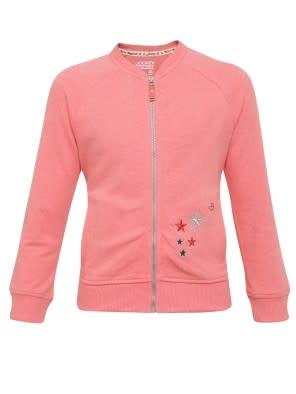 Passion Red Melange Girls Jacket