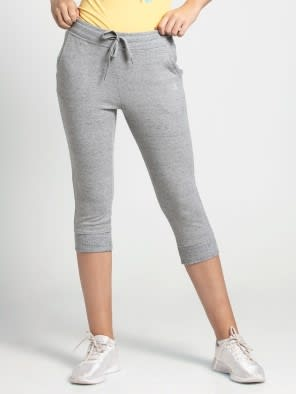 Grey Snow Melange Capri