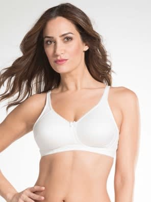 White Firm Support Bra