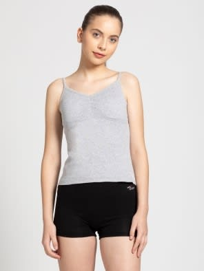 Light Grey Melange Shelf Camisole