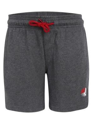 Charcoal Melange & Shanghai Red Boys Shorts