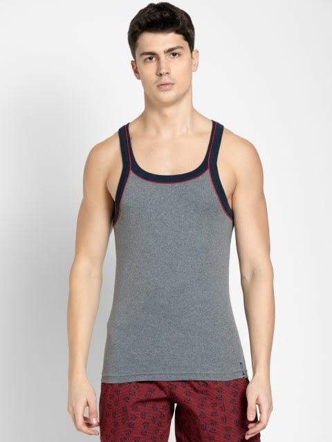 Grey Melange & Ink Blue Vest